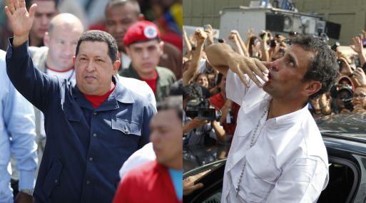 Chávez y Capriles protagonizaron una dura contienda. (Reuters)