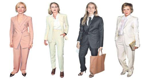 <b>Blazers.</b>Cate Blanchett, Leelee Sobieski, Gaia Repossi y Chloe Sevigny posan en sastres (Foto: Getty Images/Gestión)