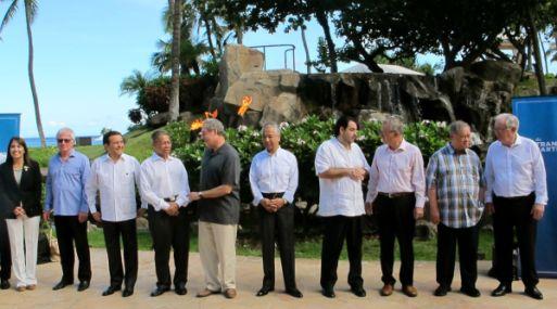 Ministros de Comercio Exterior del TPP reunidos en Hawái. (Foto: AP)