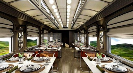Así será el comedor del tren Belmond Andean Explorer.