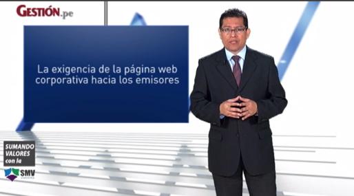 ¿Cuál es la exigencia de la página web corporativa hacia los emisores?