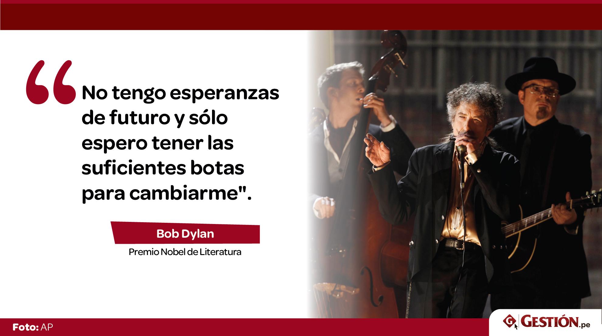 Premio Nobel de Literatura, cantante, Bob Dylan
