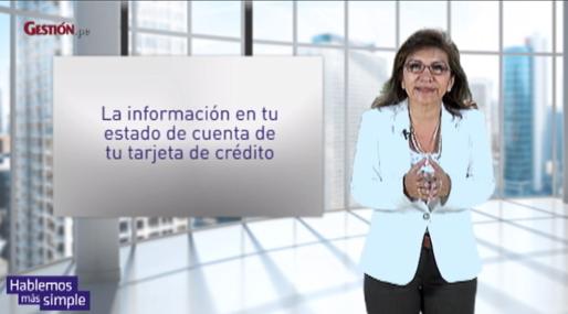 La información en los estados de cuenta de una tarjeta de crédito