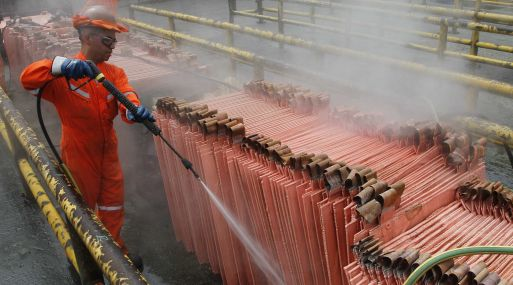 A las 1110 GMT, el cobre referencial en la Bolsa de Metales de Londres (LME) perdía un 0.2%, a US$ 5,636.5 por tonelada.