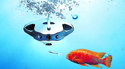 El dron Power Ray también atrae a los seres marinos.