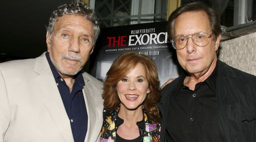 William Peter Blatty, Linda Blair y William Friedkin en setiembre del 2010. (Foto: Dave Allocca/Starpix vía AP)