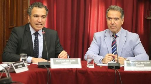 El ministro Del Solar junto al presidente de la comisión de Cultura, Francisco Petrozzi (foto: Congreso de la República).
