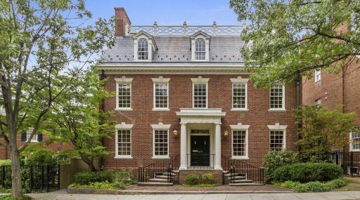 La residencia a la venta en el barrio de Barack Obama e Ivanka Trump. (Foto: Sotheby).