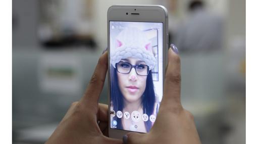 Otra aplicación popular es Snapchat.