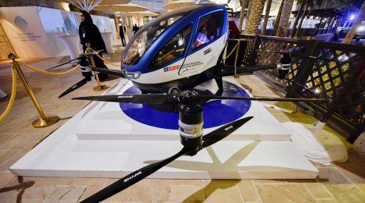 El modelo autónomo EHang 184. (Foto: AFP)