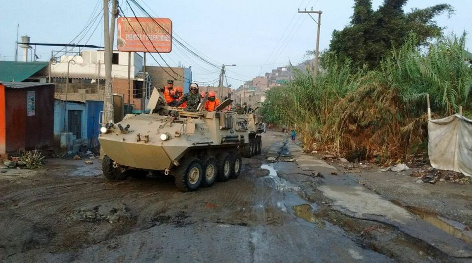 Fuerzas Armadas, desastres naturales, huaicos en el Perú