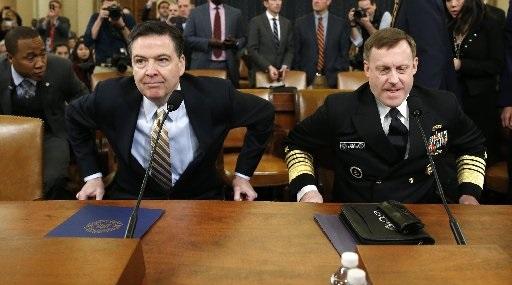 Jefe del FBI, James Comey y el jefe de la Agencia Nacional de Seguridad, Mike Rogers. (Foto: Reuters)