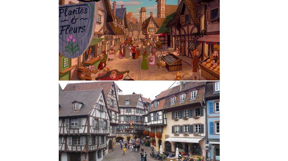 Disney, películas, lugares