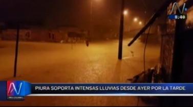 Piura soportó lluvia por más de 14 horas y deja a varios distritos sin agua potable