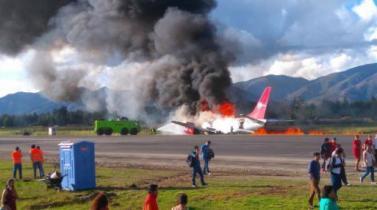 Corpac: Una falla técnica habría originado incendio de avión en aeropuerto de Jauja