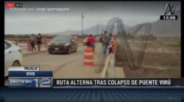 Trujillo: Se habilita ruta alterna al Puente Virú