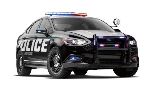 Sedán híbrido Ford Police Responder. Foto: Ford Motor Co.