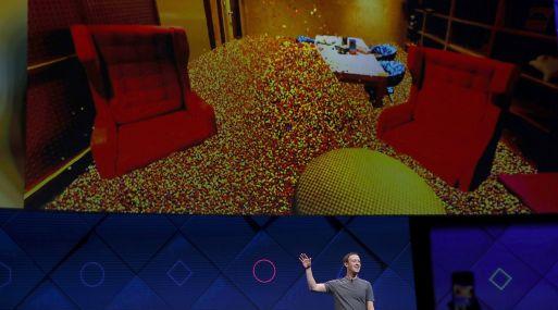 Mark Zuckerberg en la conferencia de desarrolladores F8. (Foto: AFP)
