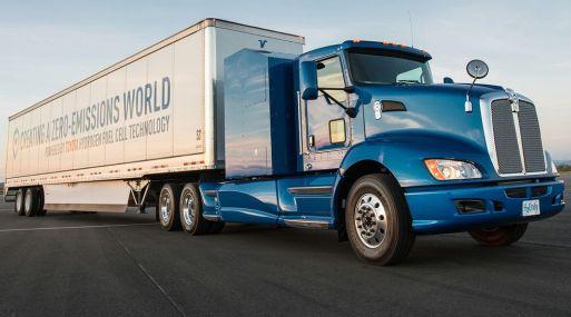 Camión de células de combustible de hidrógeno de Toyota. (Foto: Toyota)