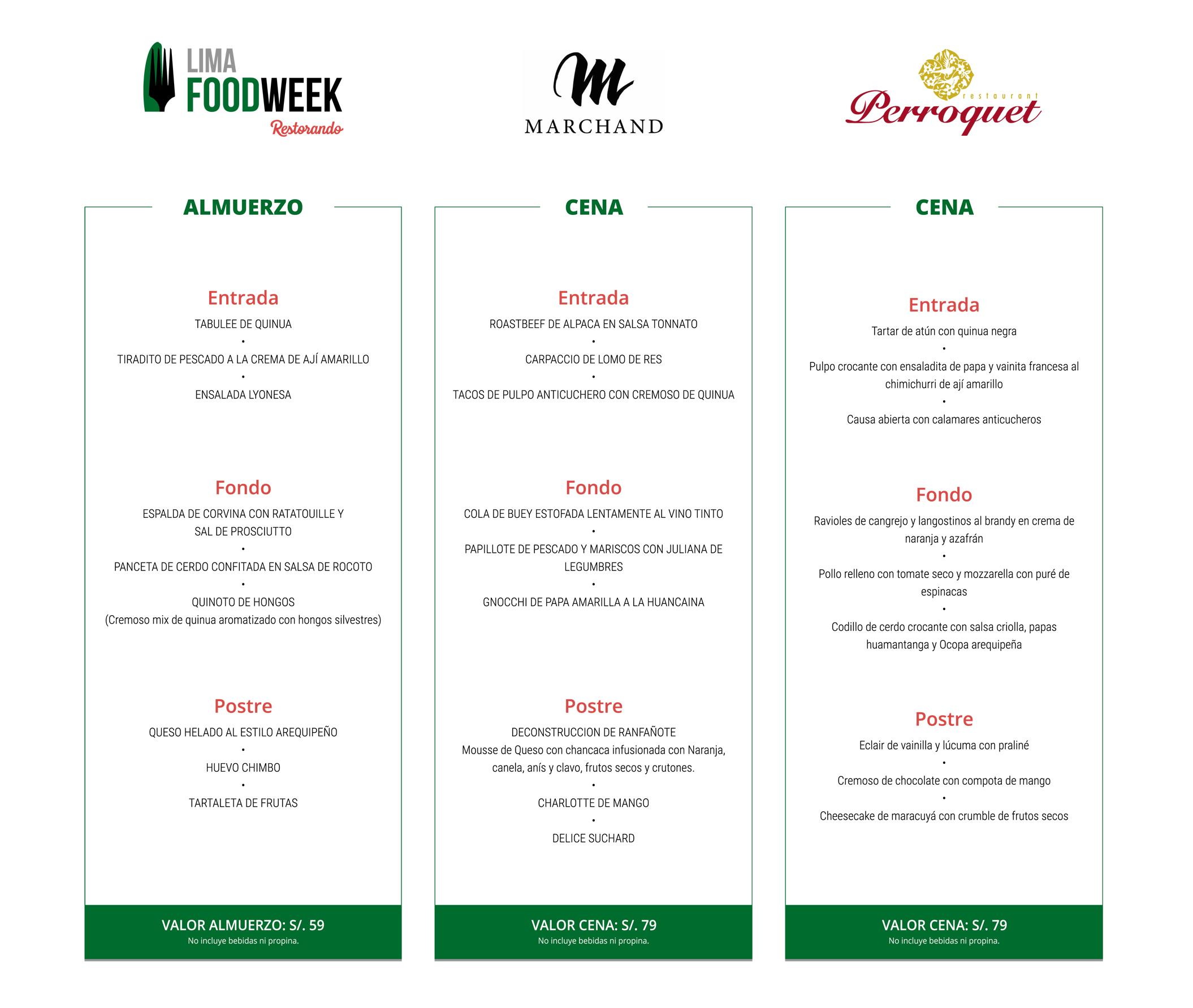 Lima Food Week: Dos semanas de opciones gourmet al alcance del bolsillo
