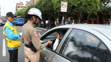 Policía multará con S/ 162 a conductores que hagan uso indebido del claxon en Miraflores