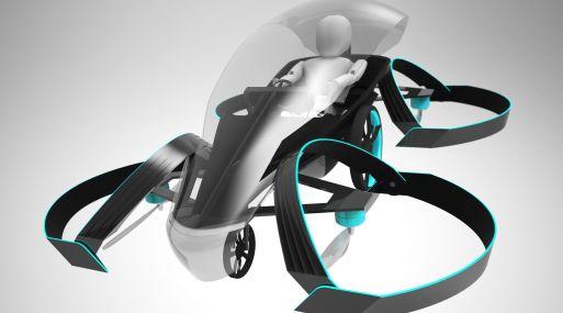 """Este auto futurista fue bautizado """"SkyDrive"""". (Foto: AFP)"""