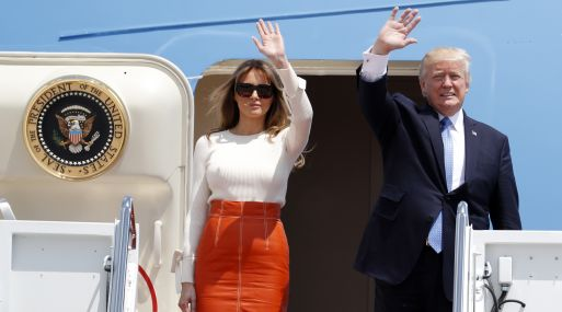 Donald Trump inició su primer viaje al extranjero como presidente de EE.UU. (Foto: AP)