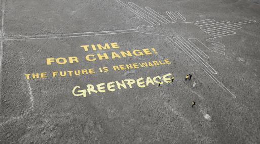 Sentencian a activista de Greenpeace por dañar geoglifo — Líneas de Nasca