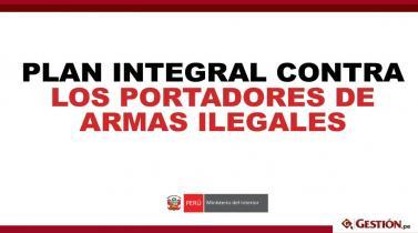 Siete estrategias del gobierno para erradicar a los portadores de armas ilegales en el Perú