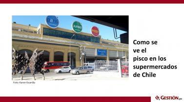 Pisco: Vea cómo se vende el licor originario del Perú en los supermercados de Chile