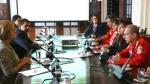 Primera Dama se reunió con Bomberos Voluntarios para impulsar mayores líneas de apoyo