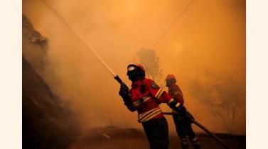 La lucha contra las llamas del incendio de Portugal