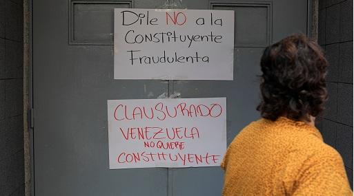 Opositores realizaron un pancartazo contra la Constituyente