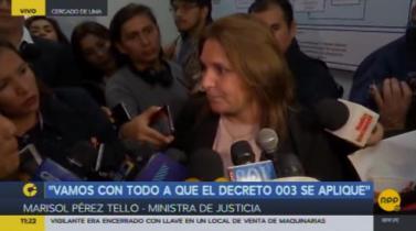"""Pérez Tello sobre pedido de Fujimori: """"Es imposible reponer a Príncipe y Ampuero"""""""