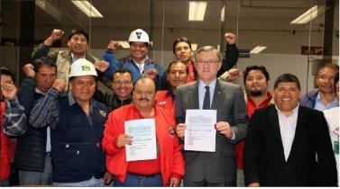 Suspenden huelga minera tras acuerdo entre el MTPE y trabajadores de la Federación Minera