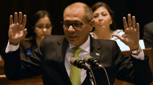 Jorge Glas, ex vicepresidente de Ecuador. (Foto: AFP)
