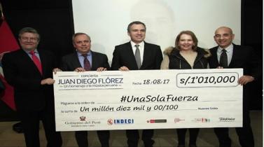 Concierto de Juan Diego Floréz recaudó más de S/ 1 millón para damnificados del Niño Costero