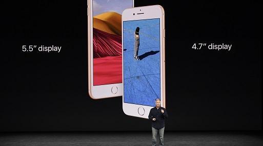 El iPhone 8 tiene una pantalla de 4.7 pulgadas, y el 8 Plus es de 5.5. (Foto: Reuters)