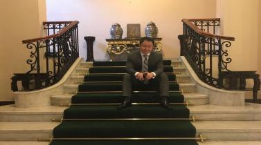 Kenji Fujimori fue el invitado sorpresa de la juramentación del gabinete Aráoz