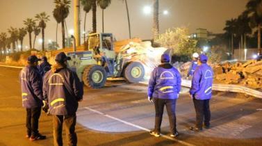 Así quedo el Jockey Club tras la demolición del cerco por la Municipalidad de Lima