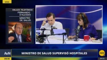 Ministro D'Alessio deslinda responsabilidad sobre contratos en Centrum